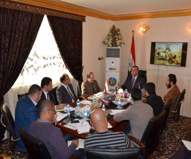 السيد الوكيل الفني د.جاسم عبد العزيز حمادي مع منظمة الحزام الاخضر