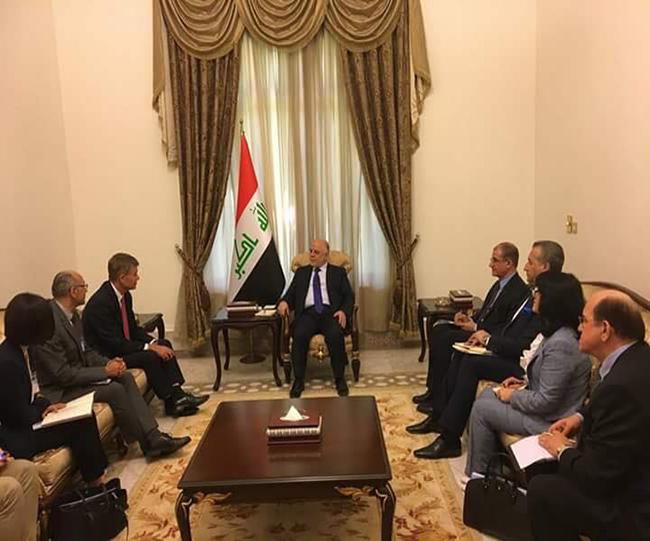 السيد.اريك سولهام نائب الامين العام للامم المتحدة  اثناء لقاءه دولة رئيس الوزراء الدكتور حيدر العبادي